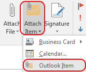 Outlook item