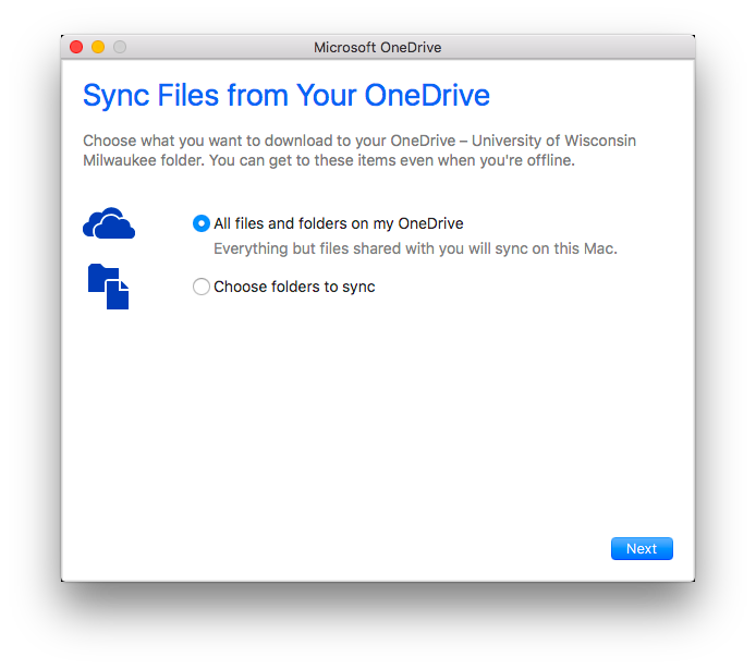 Sync File Selection