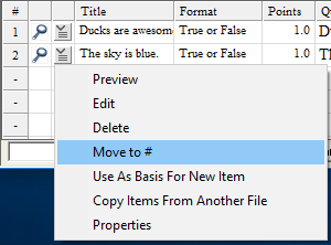 The Move to # item is highlighted from the context menu to the left of the question's title.