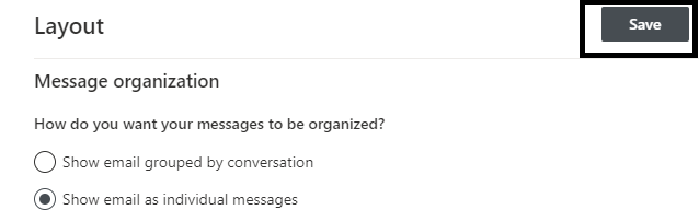 Office 365 (Outlook on the Web) - Turn Off Conversation View