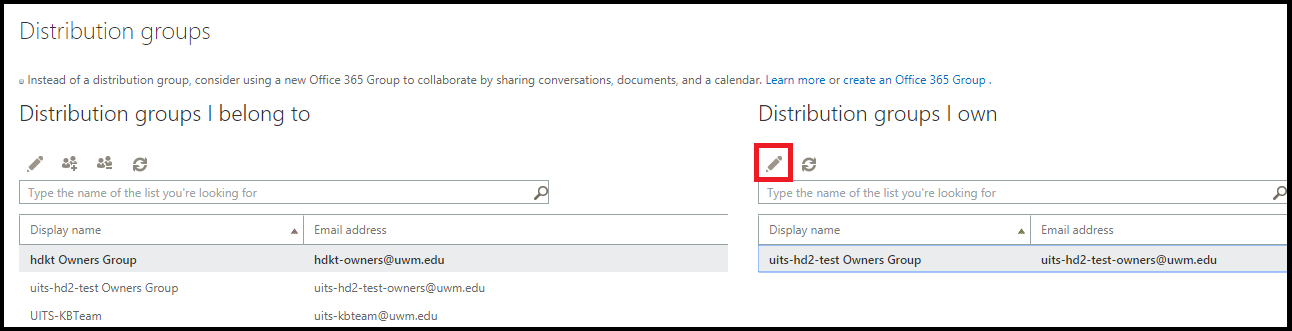 How to create email distribution group in office 365