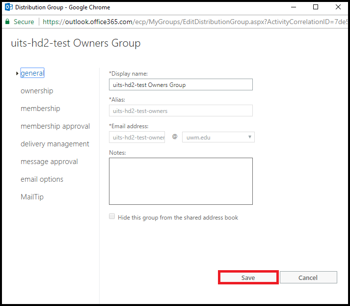 outlook uwm Office 365 (Outlook on the Web) - Editing Distribution Groups