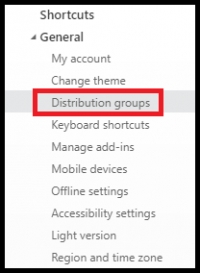 Office 365 (Outlook on the Web) - Editing Distribution Groups