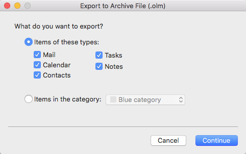 Export to a file