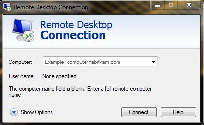 Remote Desktop window