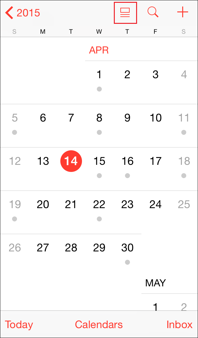 office 365 ios 10 change calendar views