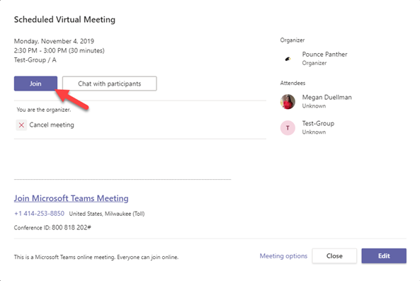 Join Virtual Meeting Teams Channel