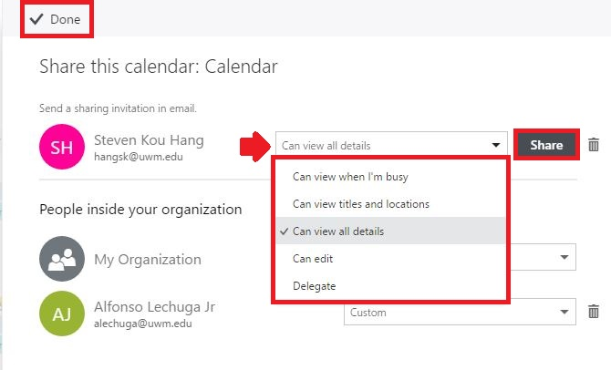 Office 365 (Outlook On The Web) - Sharing Resource Calendars And