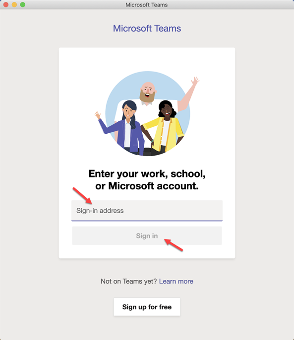 Teams App Login Email