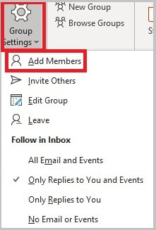 Add or Remove members