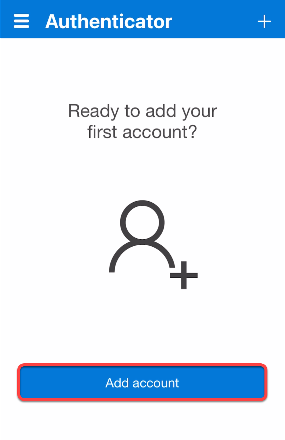 iOS Microsoft Authenticator app add account