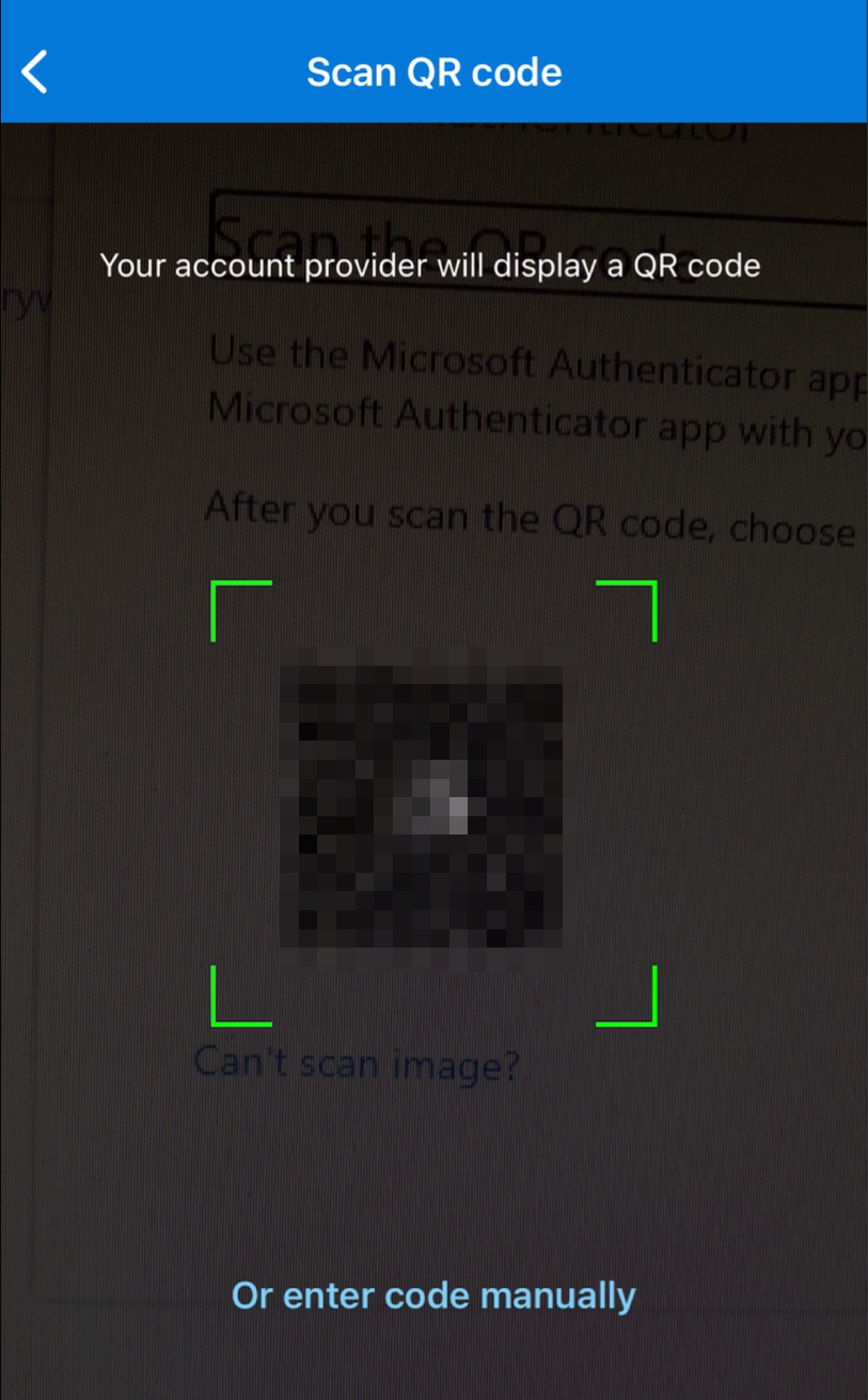 Second Device Scan QR Code