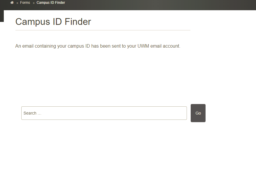 Campus ID Finder Tool