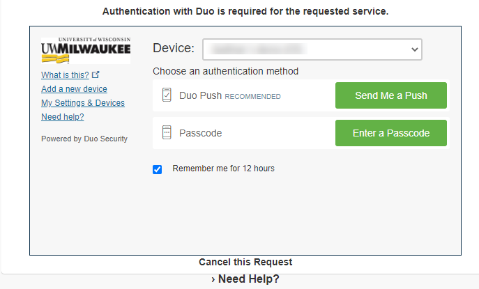 Authenticate with Duo