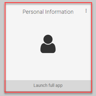 Personal Information Tile