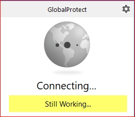 Wait for the VPN to connect