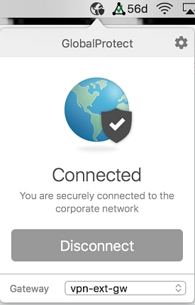 You are now connected to the GlobalProtect VPN
