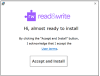 Accept and Install Button