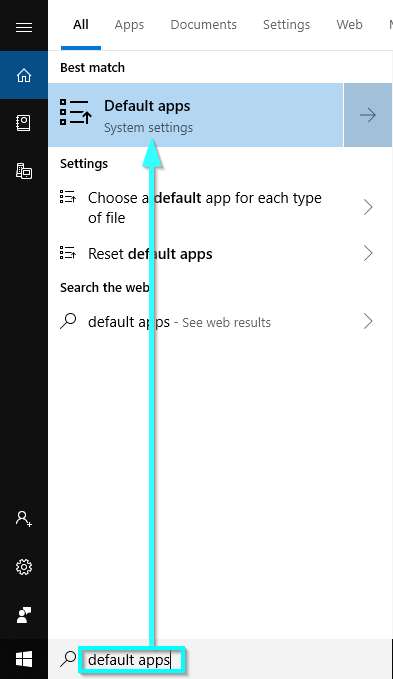 Click on Default Apps