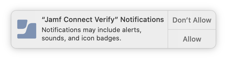 Jamf Connect Notification Prompt