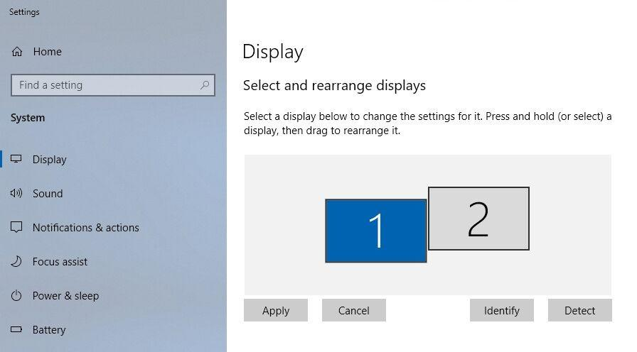display settings monitor placement